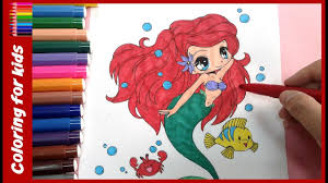 coloring pages girls color mermaid ariel