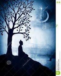 buddha the bodhi tree stock illustration image 71383361