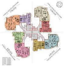 Floor Plan Flat by Solitaire Luxury Apartments In Hathill Mangalore Landtrades