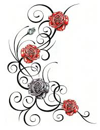 roses with tribal design by jsharts on deviantart