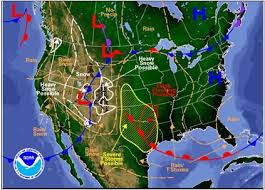 us weather map monday severe thunderstorms to blizzards will impact parts of the central