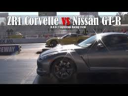 nissan corvette boosted nissan gt r vs chevrolet corvette zr1 drag race is