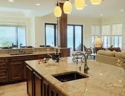kitchen island open plan kitchen with wooden veneered cabinet