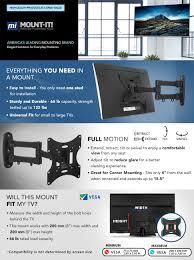 full motion corner tv wall mount amazon com mount it mi 02 223 swivel full motion articulating