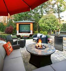 Patio Modern Furniture Patio With Modern Furniture And Fire Pit Table Outdoor Patio