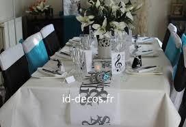 table mariage décoration mariage anniversaire deco table noir et blanc