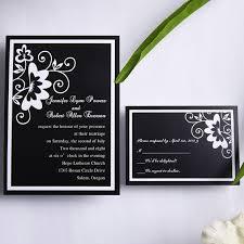 black and white wedding invitations classic black and white floral wedding invitations ewi153 as low