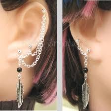earring with chain to cartilage 17 best earrings images on chain earrings piercing