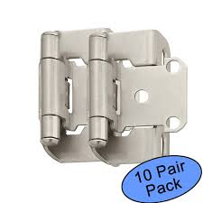 amerock kitchen cabinet door hinges amerock bp7550 g10 satin nickel self closing partial wrap cabinet