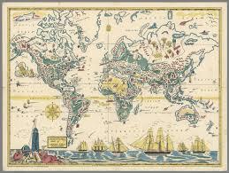 Michigan Adventure Map by Adventure Map Of Captain Ezra Diamond Copyright 1933 David