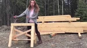heavy duty sawhorses easy to make from 2x4s youtube