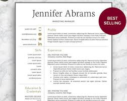 contemporary resume template cv template creative resume template two page professional