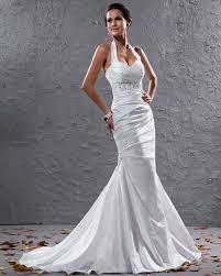 buy cheap pleats beaded halter court train mermaid wedding dress