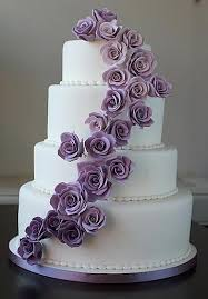 wedding cake lavender white wedding cake with lilac lavender purple roses ombre