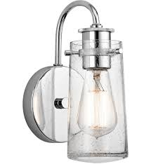 Single Light Wall Sconce Kichler 45457ch Braelyn Chrome 5 Inch 1 Light Wall Sconce