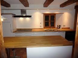 cuisine plan de travail bois cuisine blanche plan travail bois 7 cuisine stratifi233