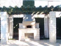Pergola Landscaping Ideas by Exterior Home Landscape Design White Stone Wooden Pergola