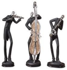 uttermost 19061 musicians decorative figurines set 3