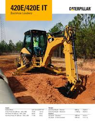 420e 420e it backhoe loader caterpillar equipment pdf