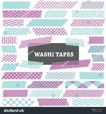 Halloween Washi Tape by Purple Aqua White Washi Tape Strips Stock Vector 188667698