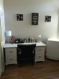 Pottery Barn Bedford Desk Knock Off by Diy Desk Two File Cabinets And Piece Of Melamine Board From Home