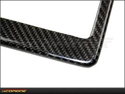 lexus accessories license plate scopioneusa com license plate frame in carbon fiber for united