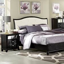 bedroom country style bedroom design with high wooden headboard