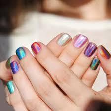 gel len arrival 3d holographic halo glitter gel nail polish pink