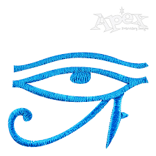 the eye of horus embroidery design