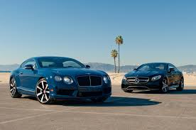 bentley dark green 2014 bentley continental gt v8 s vs 2015 mercedes benz s63 amg 4matic