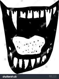 Vampire Teeth Vector Illustration Vampire Fangs Teeth Stock Vector 129953849