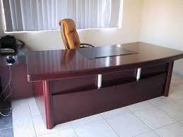 Office Table L Shape Design Designer Office Table White Black Wall Paints Colors Grey Color