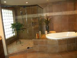 brown white corner bathtubs for small bathrooms aside glass shower