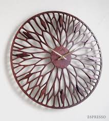 wandering laser cut wood clock home decor u0026 lighting sarah