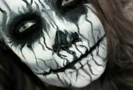 black u0026 white demon spooky halloween makeup paperblog