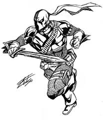 people printable deathstroke coloring pages arkham origins with