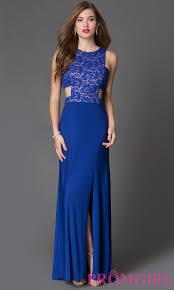 blue graduation dresses side cutout blue prom dress promgirl