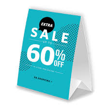 standard table tent card size card