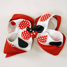 mickey mouse hair bow best stacked hair bows products on wanelo