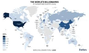 Algeria On World Map by Forbes Billionaires List Map 2016 Billionaire Population By Country
