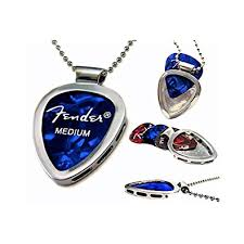 guitar necklace jewelry images Guitar pick holder pendant necklace chrome stainless jpg