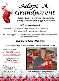 gifts for elderly grandparents adopt a grandparent program give the elderly a gift for christmas