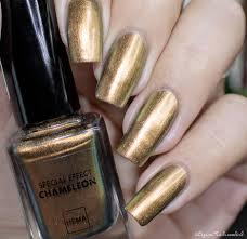 chameleon copper hema swatch nailart metallic nails polish