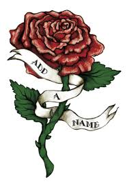 rose tattoo with banner name aol image search results tattoos