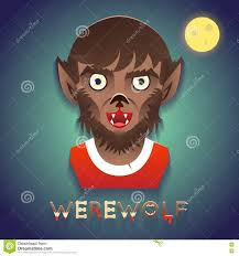 halloween background template werewolf avatar role character bust icon halloween party stylish