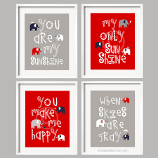 Baby Boy Nursery Ideas You Are My Sunshine Red Navy And Gray Nursery By Yassisplace
