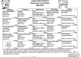 lunch menu template free school lunch menu calendar template