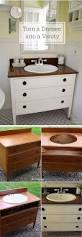 How To Build Your Own Bathroom Vanity by Best 25 Dresser To Vanity Ideas Only On Pinterest Dresser