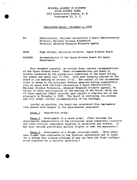letter report recommendations of the space science board for