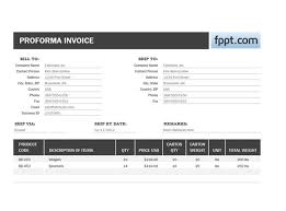 Billing Template Excel Proforma Invoice Template For Excel 2013